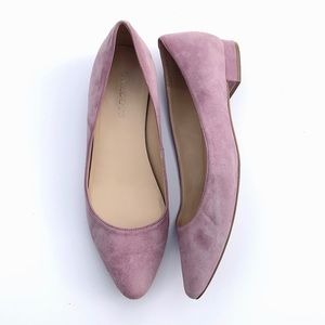 Talbots Lilac Suede Pointy Toe Ballet Flats 9M